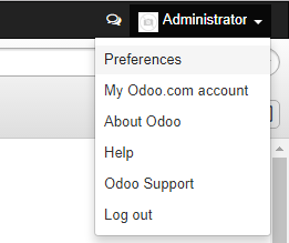 Administrator -> Preferences